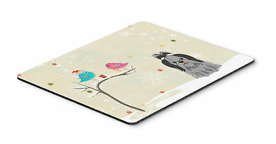 Christmas Presents between Friends Shih Tzu Black Silver Mouse Pad, Hot Pad or T