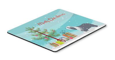 Bearded Collie Dog Merry Christmas Tree Mouse Pad, Hot Pad or Trivet