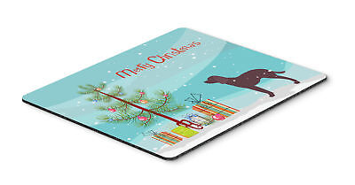 American Water Spaniel Merry Christmas Tree Mouse Pad, Hot Pad or Trivet