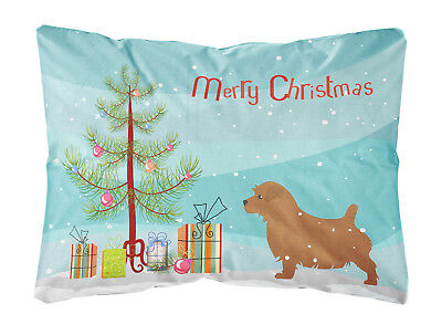 Norfolk Terrier Merry Christmas Tree Canvas Fabric Decorative Pillow