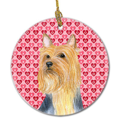 Carolines Treasures  LH9136CO1 Silky Terrier Valentine's Love and Hearts Ceramic