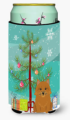 Merry Christmas Tree Norwich Terrier Tall Boy Beverage Insulator Hugger