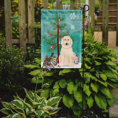 Merry Christmas Tree Great Pyrenese Flag Garden Size