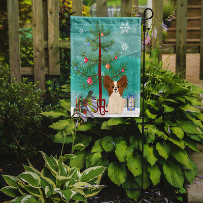 Merry Christmas Tree Papillon Red White Flag Garden Size