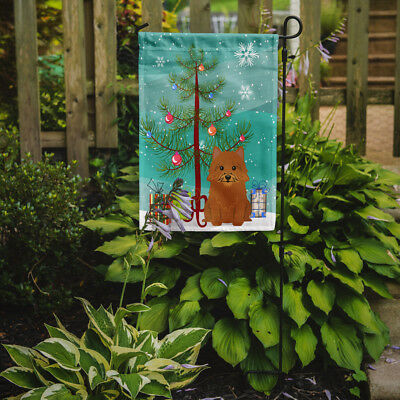 Merry Christmas Tree Norwich Terrier Flag Garden Size