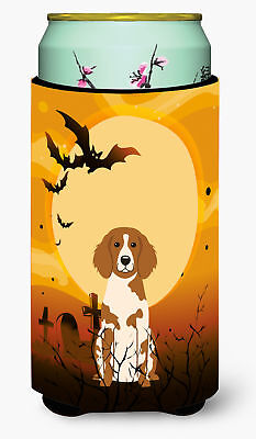 Halloween Brittany Spaniel Tall Boy Beverage Insulator Hugger