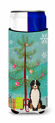 Merry Christmas Tree Bernese Mountain Dog Michelob Ultra Hugger for slim cans