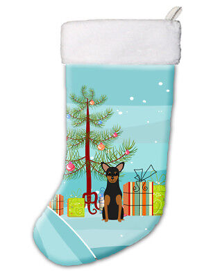 Merry Christmas Tree Manchester Terrier Christmas Stocking