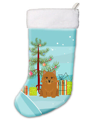 Merry Christmas Tree Norwich Terrier Christmas Stocking