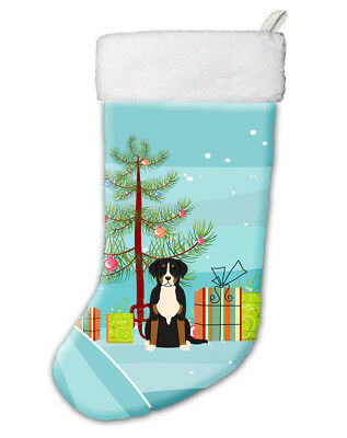 Merry Christmas Tree Greater Swiss Mountain Dog Christmas Stocking