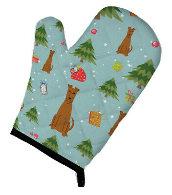 Carolines Treasures  BB4722OVMT Christmas Irish Terrier Oven Mitt