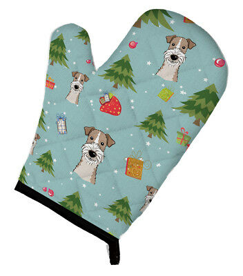 Carolines Treasures  BB5036OVMT Christmas Wire Haired Fox Terrier Oven Mitt