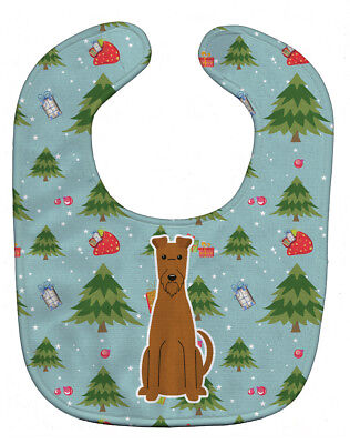 Carolines Treasures  BB4722BIB Christmas Irish Terrier Baby Bib