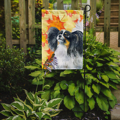 Carolines Treasures  BB9918GF Papillon Fall Flag Garden Size