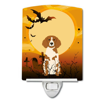 Carolines Treasures  BB4338CNL Halloween Brittany Spaniel Ceramic Night Light