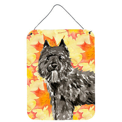 Fall Leaves Bouvier des Flandres Wall or Door Hanging Prints