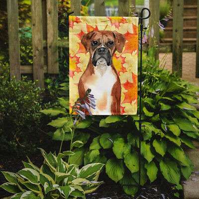 Carolines Treasures  CK1847GF Fall Leaves Boxer Flag Garden Size