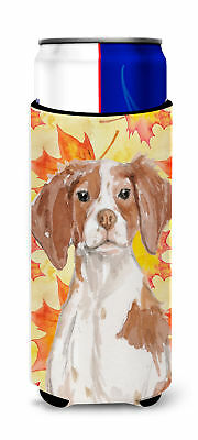 Brittany Spaniel Fall Michelob Ultra Hugger for slim cans