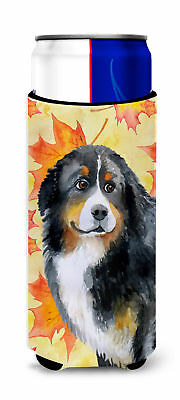 Bernese Mountain Dog Fall Michelob Ultra Hugger for slim cans
