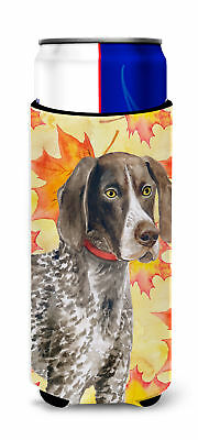 German Shorthaired Pointer Fall Michelob Ultra Hugger for slim cans