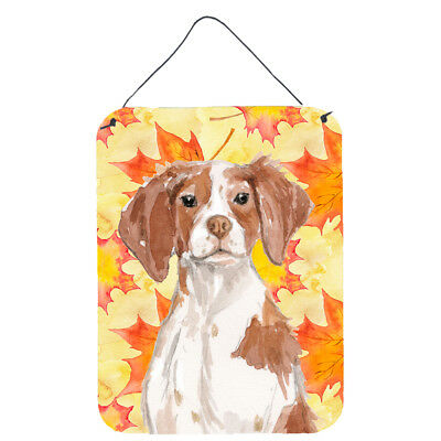 Brittany Spaniel Fall Wall or Door Hanging Prints