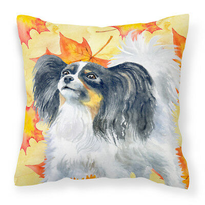 Carolines Treasures  BB9918PW1414 Papillon Fall Fabric Decorative Pillow