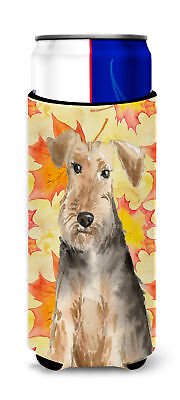 Fall Leaves Welsh Terrier Michelob Ultra Hugger for slim cans