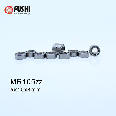 MR105ZZ Bearing ABEC-1 ( 10 PCS ) 5*10*4 mm Miniature MR105  ZZ Z Ball Bearings
