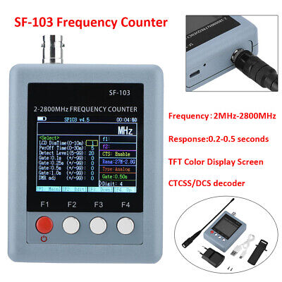 Handheld 2MHz-2800MHz Digital Frequency Counter Tester Meter with LCD Display SS