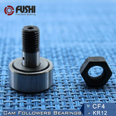 KR12 CF4 Cam Followers Bearing 4mm ( 2 PC ) Stud Track Rollers NAKD12 Bearings