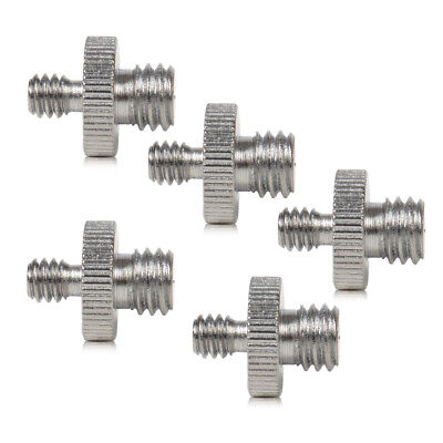 "5pcs 1/4"" to 3/8"" Male Threaded Screw Adapter For Camera Tripod Monopod Ballhead"