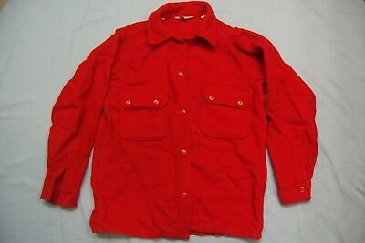 Vintage Wool BSA Official Boy Scouts Red Jacket No patches  Size 40