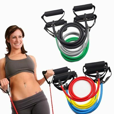 120Cm Home Fitness Exercise Pull Rope Resistance Band Training Equipment Yoga AU