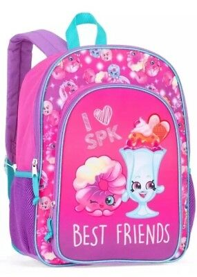 "Shopkins Backpack 16"" Full Size Book Bag Kids Tote For School"