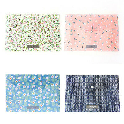 Durable Folder Snap Floral File Bag Paper A4 School Office Supplies Stationery
