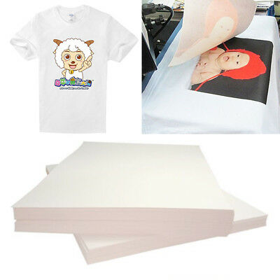 20Pc Iron On T-shirt Light Fabric A4 Heat Transfer Paper Kit for Inkjet Printer