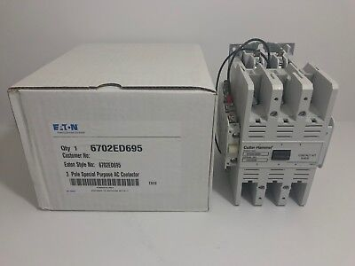 New! Eaton 3 Pole Special Purpose Ac Contactor 6702Ed695