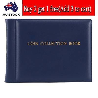 60 Coin Holder Money Storage Pockets Penny Collection Album Book Collecting