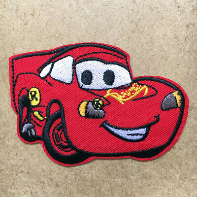 1pc Cars Lightning McQueen Embroidered Cloth Iron On Patch Applique Movie #1053