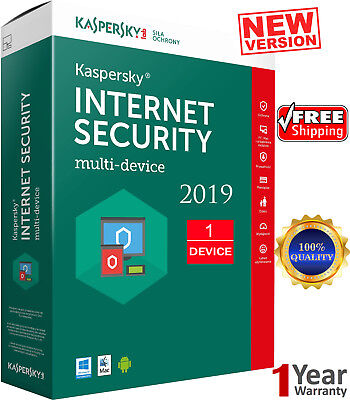 KASPERSKY INTERNET Security - 2019 / 1 Devices /1 Year / GLOBAL ACTIVITY 7.65$