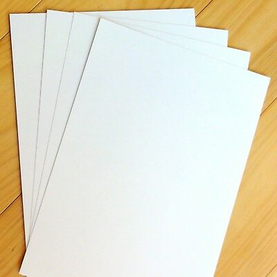 PREMIUM BLANK A4 PEARL WHITE METALLIC SHIMMER CARD x 10 SHEETS 250 GSM