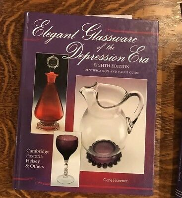 Book: Elegant Glassware of the Depression Era by Gene Florence 1998