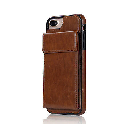 Slim Leather Card Holder Back Protective Case Cover For iPhone 6 X 7 8 Plus Case