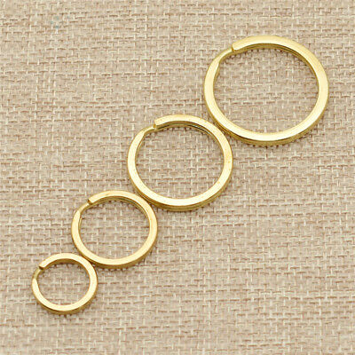 2 Pcs Solid Brass Round Rings Buckle Hook Loop Keyring Keychain 15/20/25/30mm