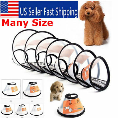 Pet Elizabethan E-collar Wound Healing Protection Cone Dog Smart Collar 7 Sizes