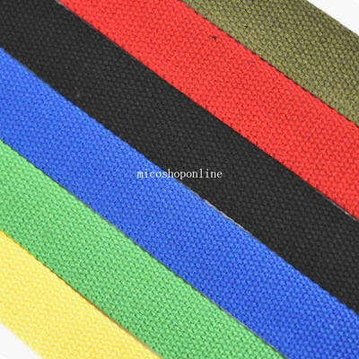 "Cotton Woven Roll Webbing 25mm 1"" Use for Handbag Belt Ribbon Buckles Strap"