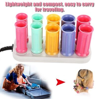10pcs Professional DIY Hair Curlers Tool Styling Rollers Circle Hair Tube