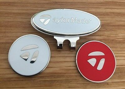 TaylorMade Hat/Cap clip with two Magnetic golf ball markers                s79