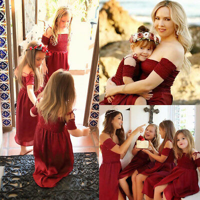 Mother and Daughter Clothes Parent-child Tutu Maxi Dress Family Matching Outfits