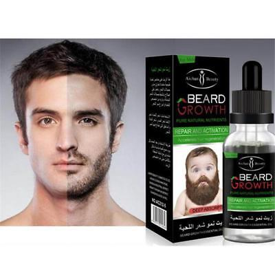 30ml Men's Male Natural Beard Growth Essential Oil Grower Boost Beard Hair Care